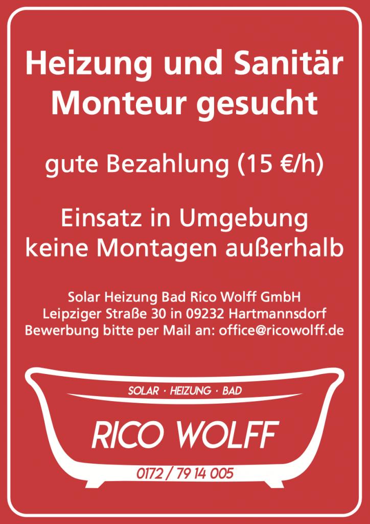 Stellenanzeige Rico Wolff Service
